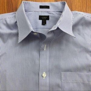 J Crew Slim Fit Non Iron Shirt Purple/Blue - L